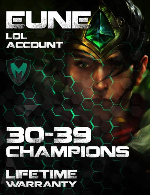 LoL EUNE Account 30-39 Champs Level 30+