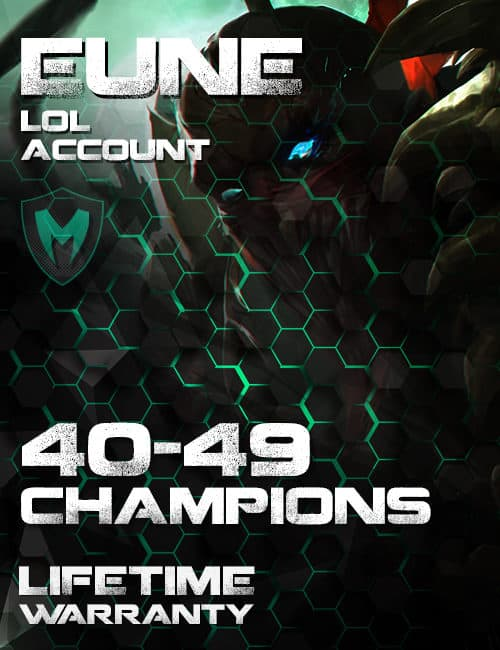 LoL EUNE Account 40-49 Champs Level 30+