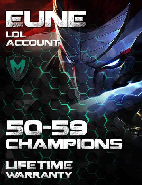 LoL EUNE Account 50-59 Champs Level 30+