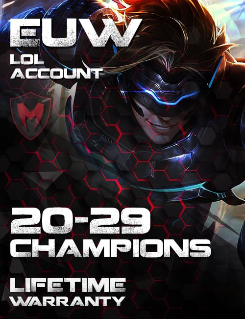LoL EUW Account 20-29 Champs Level 30+