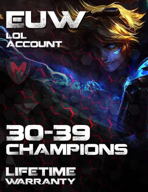 LoL EUW Account 30-39 Champs Level 30+