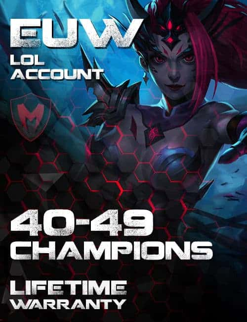 LoL EUW Account 40-49 Champs Level 30+