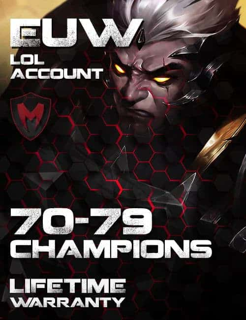 LoL EUW Account 70-79 Champs Level 30+