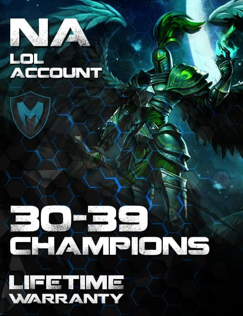 LoL NA Account 30-39 Champs Level 30+