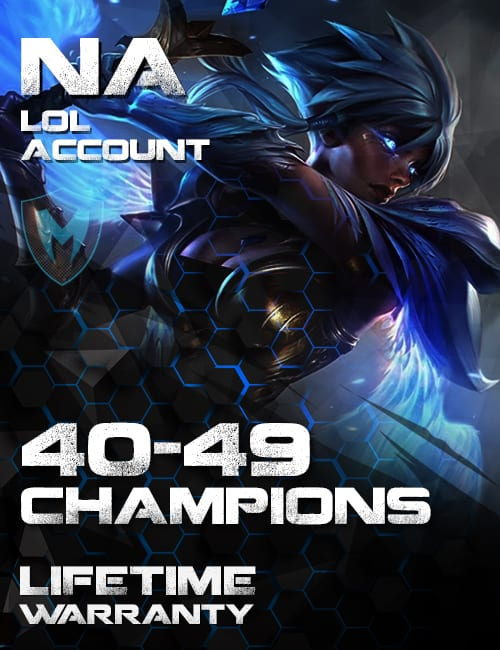 LoL NA Account 40-49 Champs Level 30+