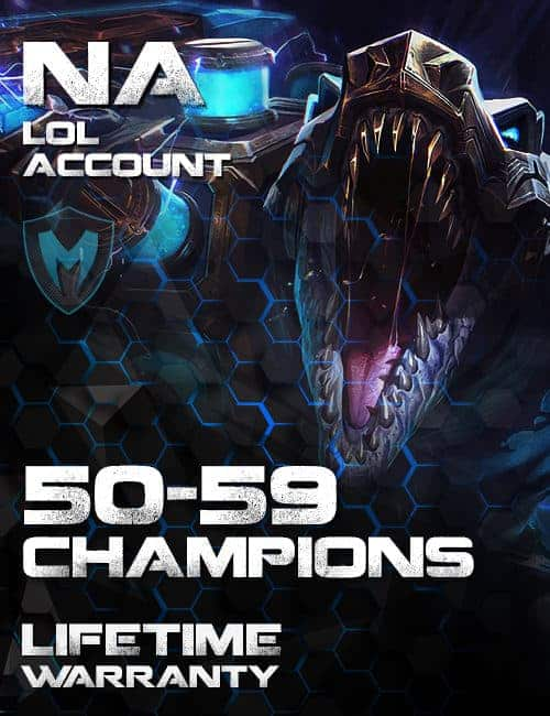 LoL NA Account 50-59 Champs Level 30+