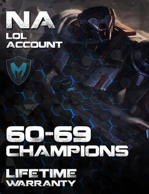 LoL NA Account 60-69 Champs Level 30+
