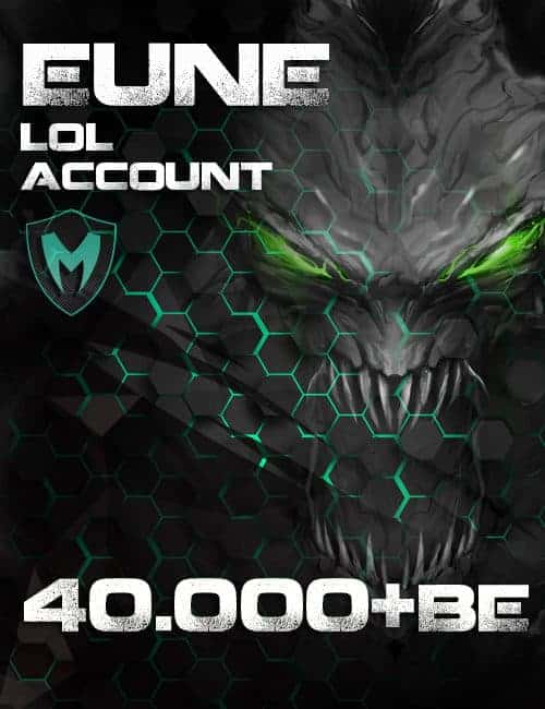 LoL EUNE Account Level 30+ 40k+ BE