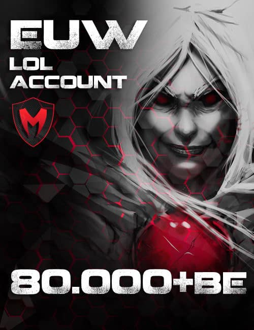 LoL EUW Account Level 30+ 80k+ BE
