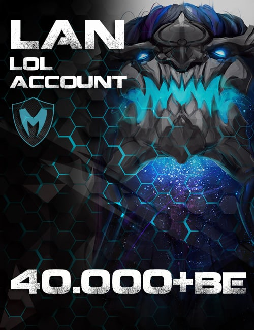 LoL LAN Account Level 30+ 40k+ BE