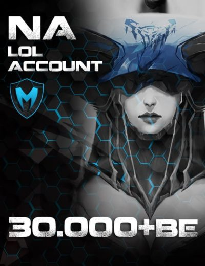LoL NA Account Level 30+ 30k+ BE