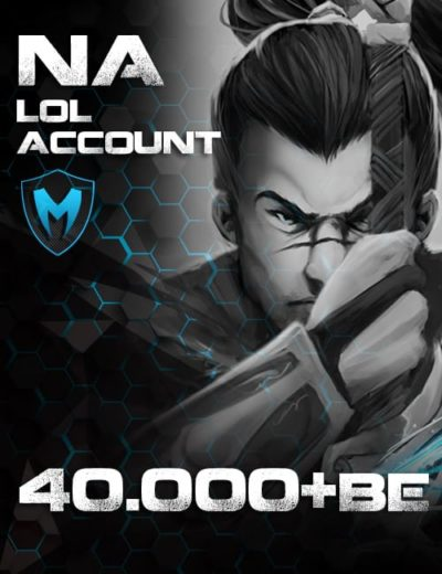 LoL NA Account Level 30+ 40k+ BE