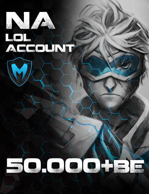 LoL NA Account Level 30+ 50k+ BE