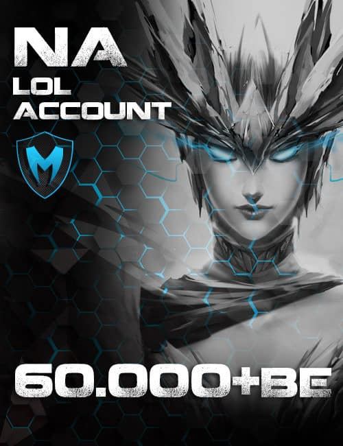 LoL NA Account Level 30+ 60k+ BE