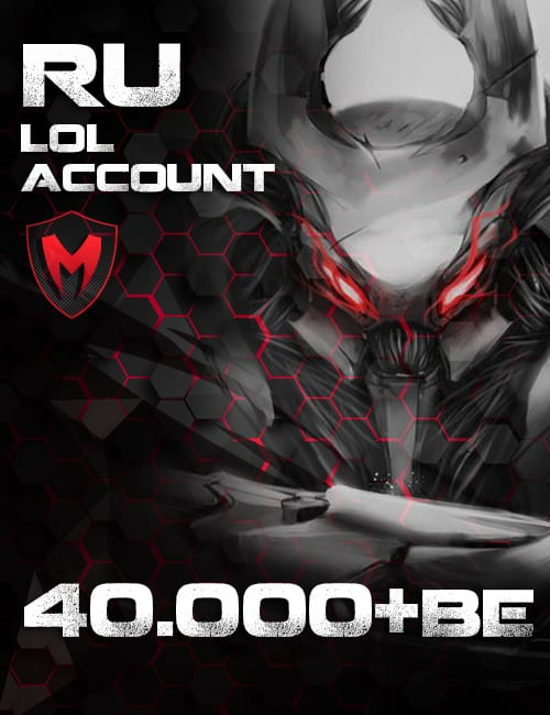 LoL Ru Account Level 30+ 40k+ BE
