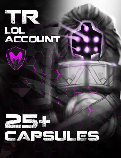 LoL TR Account Level 30 – 25+ Capsules and 12k+ BE