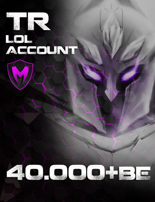 LoL TR Account Level 30+ 40k+ BE