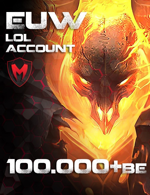 LoL EUW Account Level 30+ - 100k+ BE